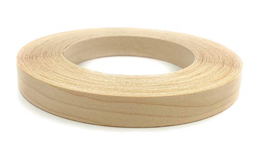Edge Supply Maple 34 X 25 Roll Wood Veneer Edge Banding Preglued Iron on with Hot Melt Adhesive Flexible Wood Tape Sanded to Perfection Easy Application Made in USA