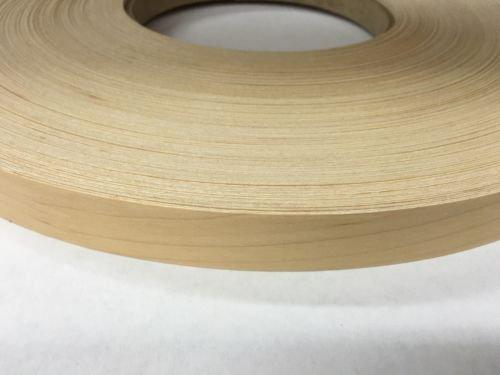 Maple Prefinished peel and stick 1316x100 wood veneer edge banding 3mnPSA