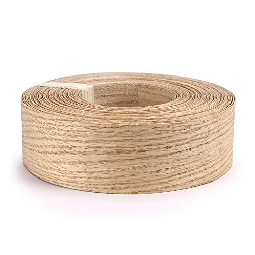 Skelang Red Oak 2 X 50 Roll Wood Veneer Edge Banding Preglued Iron-On with Hot Melt Adhesive Edgebanding Flexible Wood Tape