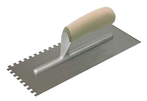 Kraft Tool HC408CC Hi Craft Sawtooth V-Notch Trowel with Wood Handle 316 x 532-Inch