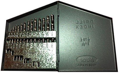 Kodiak Cutting Tools KCT120360 USA Made Jobber Length Drill Set Heavy Duty Split Point M42 Cobalt Straw Finish 135 Degree 116-14 x 64ths Size Range
