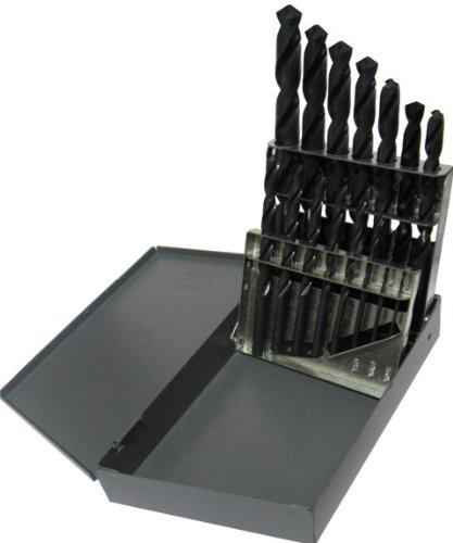 Drill America DWD15S-SET HSS Stub Screw Machine Drill Bit Set 116-12 x 32nds 15 Piece Set in Metal Case