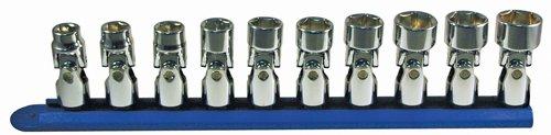 ATD Tools 1250 38 Drive 6-Point 10-Piece Metric Flex Socket Set