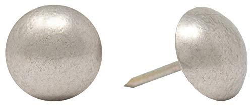 ComfortStyle Premium Upholstery Tacks Nailhead Decorative Trim for Furniture 58 Diameter 100 Nails Pewter Nickel