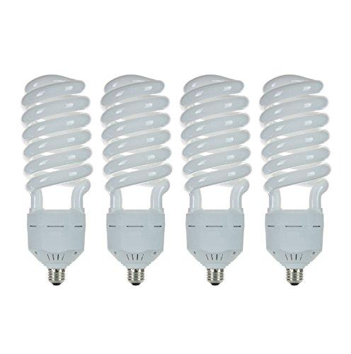 Pack of 4 CFL 105W 120V High Wattage T5 Spiral Medium Base 6500K Daylight White