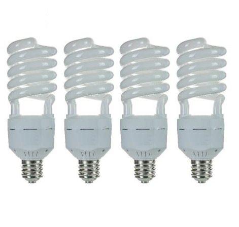 Pack of 4 CFL 65 Watt High Wattage T5 Spiral Mogul Base 2700K Warm White