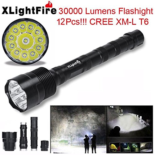 FlashlightBaomabao XLightFire 30000 Lumens 12x CREE XML T6 5 Mode 18650 Super Bright LED Flashlight