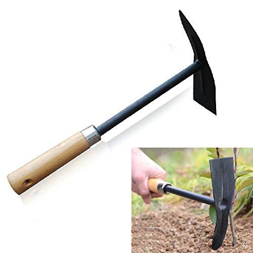 Wooden Handle Steel Pickaxe Head Hoe Gardening Tools