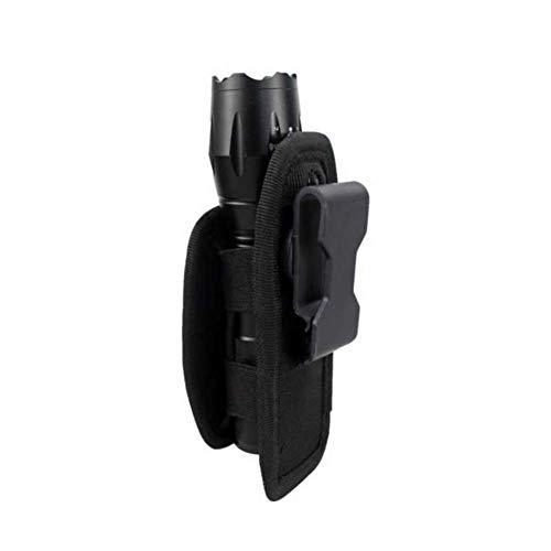 BREEZEY 360 Rotatable Clip Holster Flashlight Pouch Holster Duty Belt Carry Case Holder