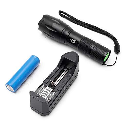 gfdhr S2 LED 10W 1200 Ultra-Small LED Light Belt Clip Light Mini Black Light Flashlight Dry Battery Set