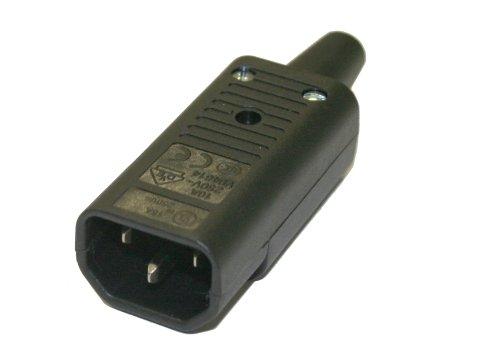 Interpower 83011060 IEC 60320 Sheet E Rewireable Plug IEC 60320 Sheet E Socket Type Black 10A15A Rating 250VAC Rating