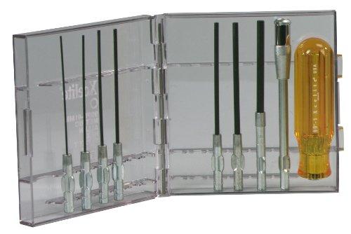 Xcelite 99PS41MM 9-Piece Series 99 Allen Hex Socket Type Screwdriver Set