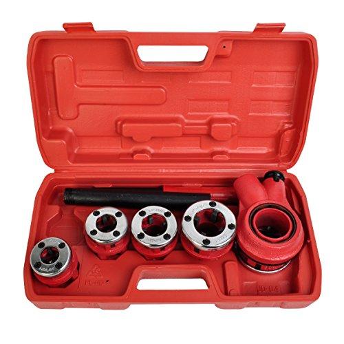 Comie New Ratchet Pipe Threader Kit Set Ratcheting w5 Stock Dies Handle Plumbing Case