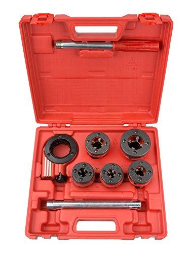 TEKTON 7574 Ratchet Pipe Threader Kit 9-Piece