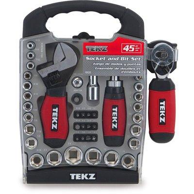 Tekz 18020 14-Inch and 38-Inch Stubby Ratchet Set 45-pc
