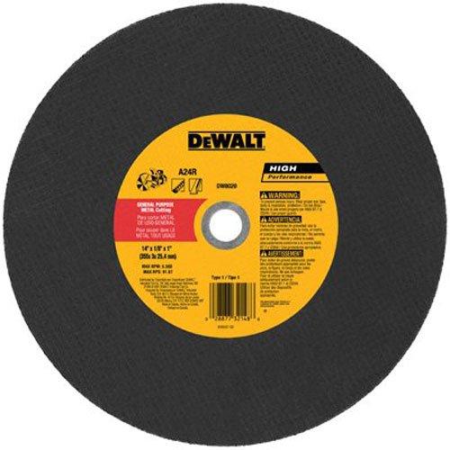 DEWALT DW8020 Metal Port Saw Cut-Off Wheel 14-Inch X 18-Inch X 1-Inch