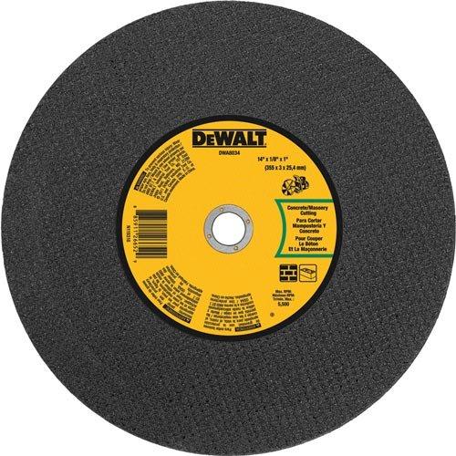DEWALT DWA8034 Concrete Masonry Port Saw Cut-Off Wheel 14-Inch X 18-Inch X 1-Inch
