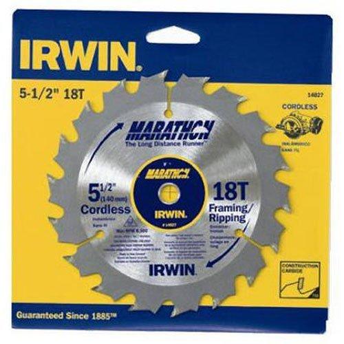 IRWIN Tools MARATHON Carbide Cordless Circular Saw Blade 5 12-Inch 18T 063-inch Kerf 14027 Size 5-12 18T Style Marathon Model 14027 Outdoor Hardware Store