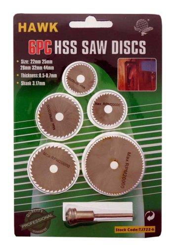 6 PIECE HSS SAW DISC SET   Pack of 24 Pcs