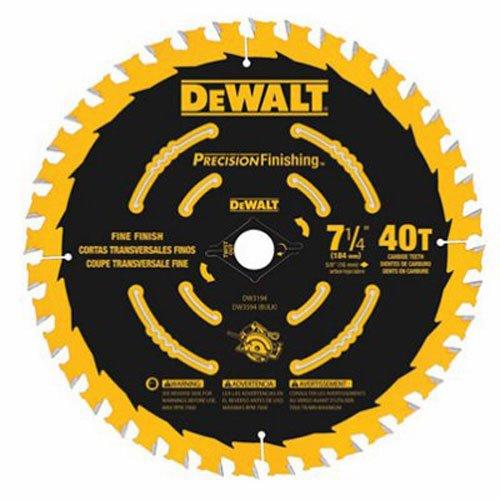 DEWALT DW3194 7-14-Inch 40T Precision Framing Saw Blade