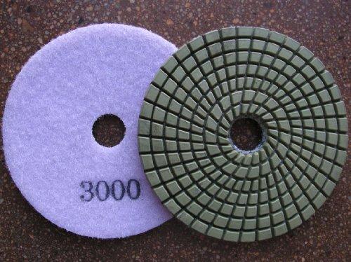 4 Wet Granite Polishing Pads Grit 3000