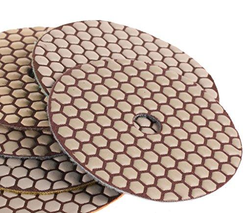 SPTA 3000 Grit Premium Grade Dry 5125mm Diamond Polishing Pads Set For Wet Polisher Granite Marble Stone Polish Pack Of 2Pcs