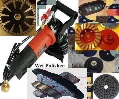 Wet Granite Concrete Sander Polisher 34 Bevel  45 Degree Bullnose Router Profiler Diamond polishing pad buff grinding cup convex concave blade marble travertine