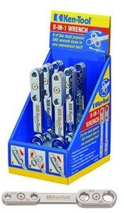 Ken Tool KN35776 8 In 1 Metric Slim Multi Wrench