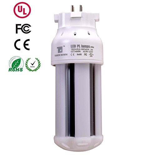 TOUCH DOWN TECH-PLD-1007AG10 60 Watt Equivalent7 Watt GX10q LED Light BulbsNon-Dimmable Warm White 4000k4 Pin