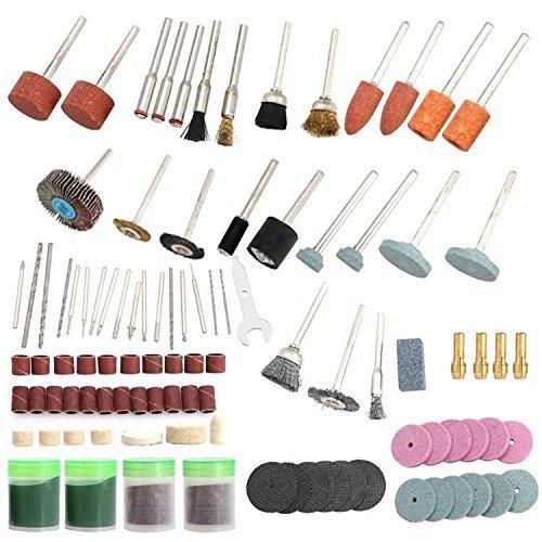 136Pc Rotary Tool Set 18 Shank Sanding Polish Cutting Accessory Bit for Dremel