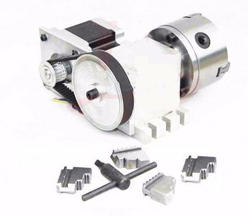 GOWE 4 Jaw Chuck 100mm CNC 4th Axis for CNC Router Engraver CNC Milling Machine