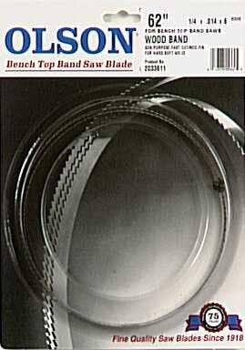 Olson Saw WB55362BL 62-Inch by 14 wide by 6 Teeth Per Inch Band Saw Blade