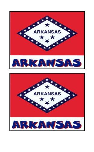 2 Souvenir Arkansas State Flag Stickers Decal Laptop Phone Locker Toolbox Wall Stocking Stuffer
