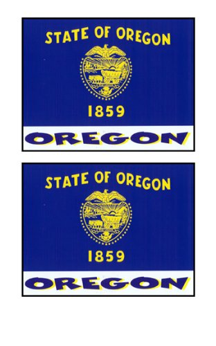 2 Souvenir Oregon State Flag Stickers Decal Laptop Phone Locker Toolbox Wall Stocking Stuffer