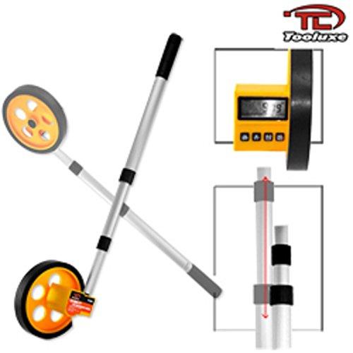 10000 Ft Lcd Digital Walking Rolling Tape Measure Measuring Wheel Tool Stick