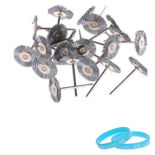18 Steel Wire Wheel Brushes - For Dremel Die Grinder- Rotary Tools