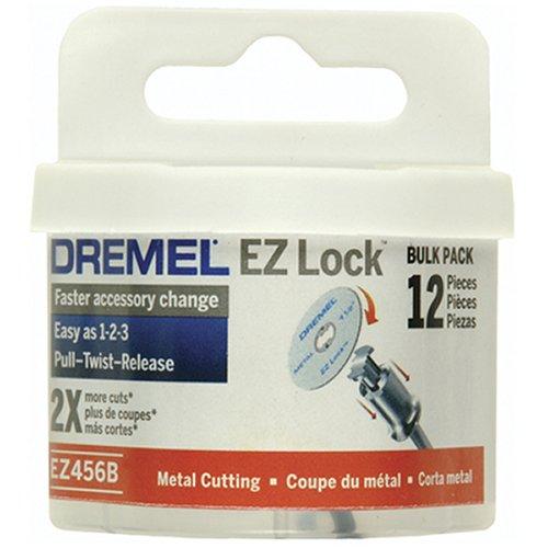 Dremel EZ456B 1 12-Inch EZ Lock Rotary Tool Cut-Off Wheels For Metal - 12 pieces