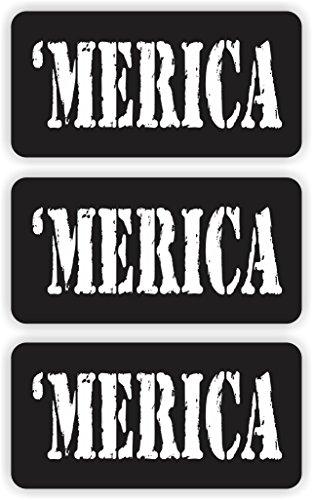 MERICA Helmet  Hard Hat Sticker  Decal  Label Tool Lunch Box Patriotic Old Glory America