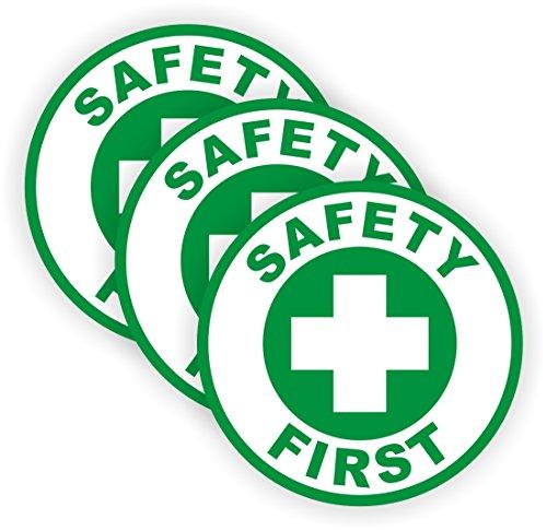 Safety First Hard Hat Sticker  Welding Helmet Decal Label Lunch Tool Box