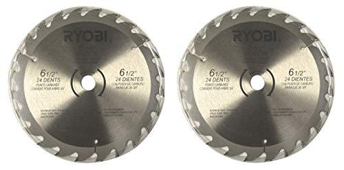 2 Ryobi 6 12 24 Tooth Carbide-Tipped Circular Saw Blades Fit 58 Arbor
