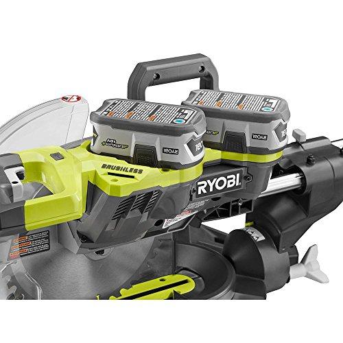 Ryobi P3650B neone 18-volt 10 In Cordless Brushless Bevel Sliding Miter Saw