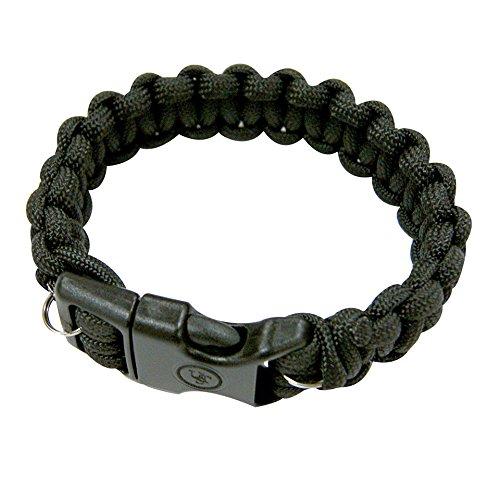 UST Paracord Bracelet with Wire Saw Black 8