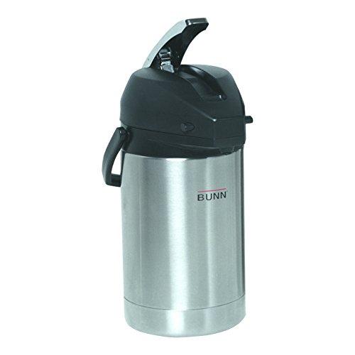 BUNN 321250000 25 Liter Lever-Action Airpot Stainless Steel