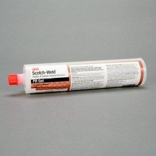 3M Scotch-Weld PR Gel Cyanoacrylate Adhesive - Clear Gel 106 oz Cartridge - Shear Strength 2900 psi - 25282 PRICE is per CARTRIDGE