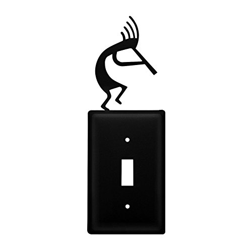 Iron Kokopelli Switch Cover - Heavy Duty Metal Light Switch Cover Electrical Outlet Covers Lightswitch Covers Wall Plate Cover