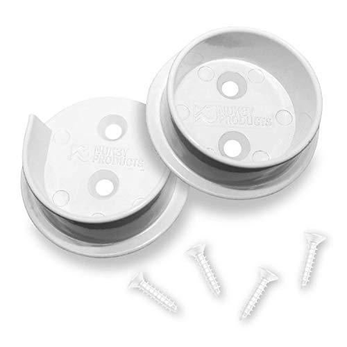 Nuk3y Heavy Duty Metal Steel Closet Pole Socket Set 1-12 White
