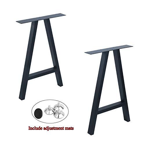 Weven Metal Furniture Legs 28Height 175WideIndustrial Rustic Decory A Shape Table LegsHeavy Duty Metal Desk LegsDining Table LegsIndustrial Modern DIY Bench LegsBlack2 Pcs