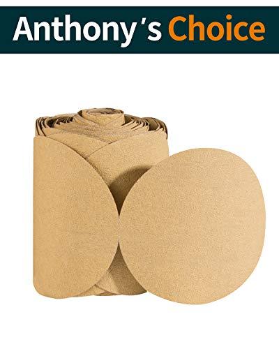 Sanding Discs Adhesive 6 Inch 100 PCS PSA Sanding Disc Aluminum Oxide Sandpaper Roll 80 Grit S SATC