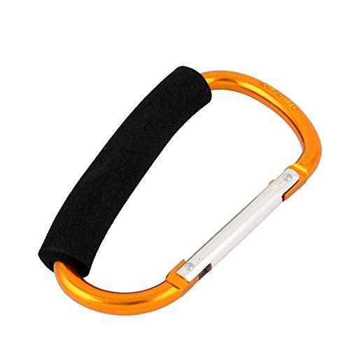 Metal Spring Snap Bag Hook Clip Carabiner Cords Hanger 13cm Gold Tone