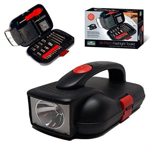 26 PCS Household tools set with Wide Beam flashlight tool box Multifunction Emergency Flashlight tool for home car portable tool kit RT5